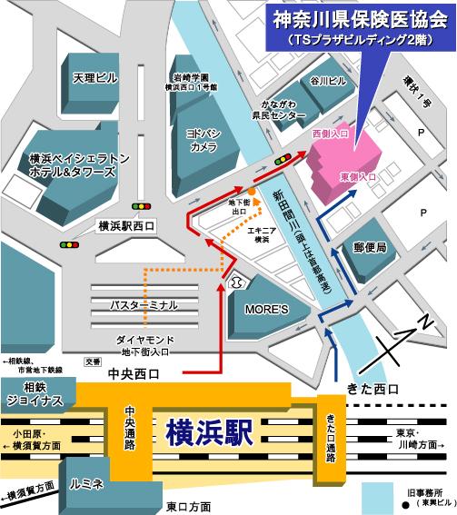 神奈川県保険医協会アクセスマップ
